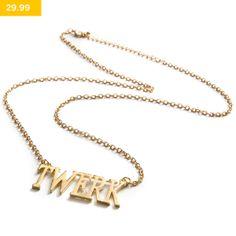 Make it twerk with this stylish necklace! Part of the LEGiT accessories range.