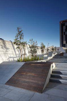 717 Bourke Street by Aspect Studios « Landscape Architecture Works Landscape Plaza, Landscape Stairs, Landscape And Urbanism, Landscape Design, Contemporary Landscape, Urban Landscape, Modern Landscaping, Garden Landscaping, Landscaping Ideas