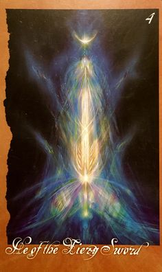 """March 31/2017 Daily Angel Oracle Card: He of the Fiery Sword, from The Faeries' Oracle, by Brian Froud and Jessica MacBeth He of the Fiery Sword: """"The Active Principle, Spiritual Will, Justice, Prote…"""