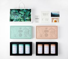 This tea packaging is something else! Designed by YanYaoming, handmade and naturally grown tea gets the royal treatment as lose leaves are poured into pastel-colored tins. Labeled with steeping instructions, the tins are then placed into a seamless box illustrated with an abstract landscape.