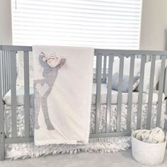 Baby Girl Woodland Boho Fawn with Flower Crown Blanket in Gray and White Dreamy Nursery - Baby Nursery Today Baby Bedroom, Nursery Room, Nursery Decor, Nursery Ideas, Rustic Nursery, Nursery Bedding, Bambi Nursery, Deer Nursery, Room Ideas