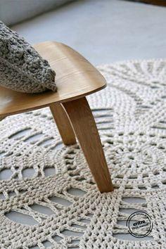 Le crochet dans la déco | Ici, les tapis Entre Design