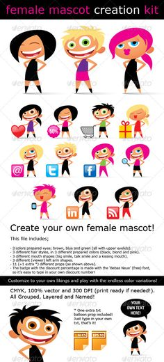Female Mascot Creation Kit