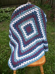 Crochet Baby Blanket / Afghan / Photo Prop / Lap by MaddysNana
