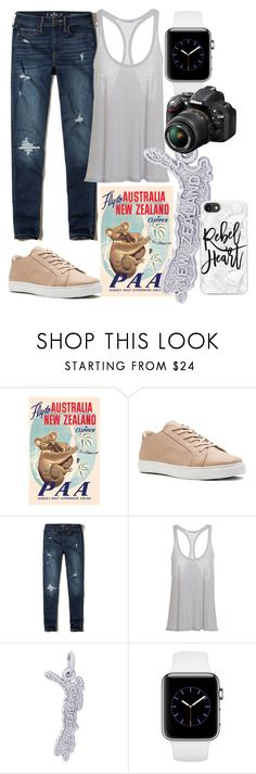 """""""New Zealand, Lord of the Rings"""" by jayme-becker ❤ liked on Polyvore featuring Hollister Co., Rembrandt Charms, Nikon and Casetify"""