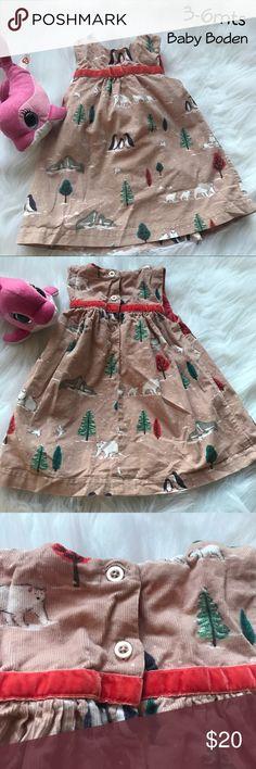 c8613315192 Spotted while shopping on Poshmark  Mini Baby Boden Corduroy Print Dress!   poshmark