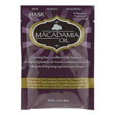 Hask Macadamia Oil Hydrating Deep Conditioning Hair Treatment with Keratin is an ultra restorative moisturizing treatment. If you heat style your hair, really gotta use this.