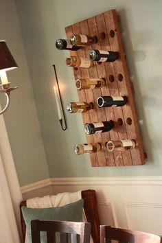 Porta bottiglie a parete