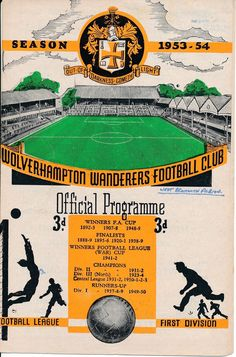 Wolves v West Brom 1953/4 - Wanderers Championship year in Sports Memorabilia, Football Programmes, League Fixtures, League Fixtures (1950-1958), First Division Fixtures | eBay