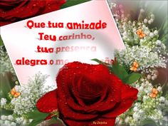 Rosas e meu carinho pra você    sempre!