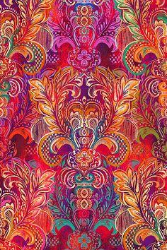 Motifs Textiles, Textile Patterns, Textile Prints, Print Patterns, Paisley Art, Quilting For Beginners, Design Art, Art Designs, Pattern Wallpaper