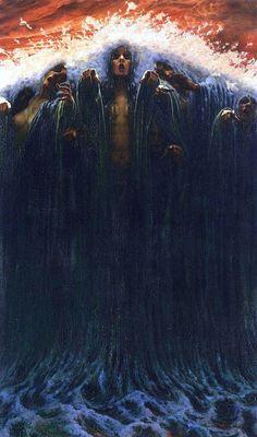 Carlos Schwabe (1866 – 1926), La Vague - 1907