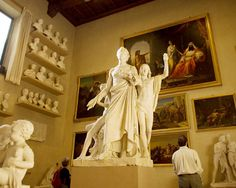 Accademia Gallery in Florence contains many priceless works of art, the most renowned and famous in the sculpture of David by Michelangelo