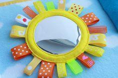 Quiet Book Page - Mirror Sun | Handmade by Mom