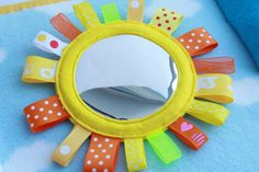 Quiet Book Page - Mirror Sun | Handmade by Mom