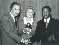 National Mental Health Association (NMHA) spokesperson and comedian, Flip Wilson, receives an award in 1971 for his public education efforts.
