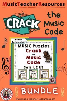 Students will be engaged and will enjoy reviewing music symbols playing 'Crack the Music Code' Puzzles to find the answer the to Riddle. No prep, just print Child Teaching, Teaching Music, Music Worksheets, Worksheets For Kids, Music Classroom, Classroom Resources, Music Lessons For Kids, Middle School Music, Music Symbols