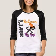 Shop Halloween Cat In Witch's Boots T-Shirt created by LifesInk. Halloween Costumes For Girls, Cute Halloween, Halloween Shirt, Witch Boots, Christmas Tee Shirts, Wardrobe Staples, Fitness Models, Casual, How To Wear