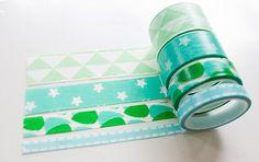 set washi tape 4 rolls set of 4 differend sizes by PlannerLadies