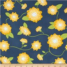 Wallflowers Flowers Blue/Yellow