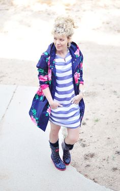 stripes and florals and polka dots for spring May showers