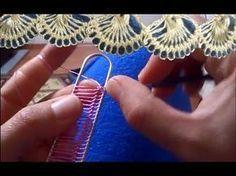 Yeni Firkete Tığ Oyası Modeli : New Hairpin Crochet Model - YouTube