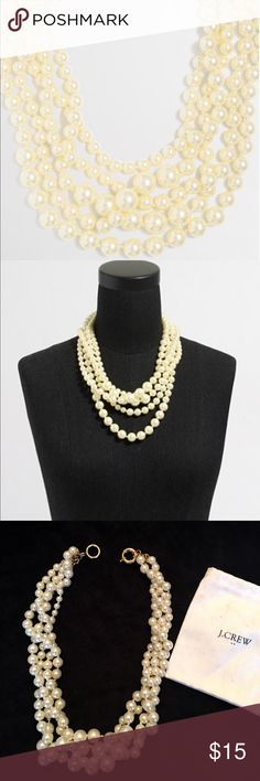 """J. Crew Multi Strand Pearl Necklace Acrylic pearls 21"""" long J. Crew Jewelry Necklaces"""