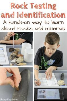 Full instructions on rock testing with kids including how to put together your own rock testing kit and a step-by-step g Earth Science Activities, Rock Science, Science Fair, Science Lessons, Science For Kids, Science Projects, Activities For Kids, Ecosystems Projects, Summer Science