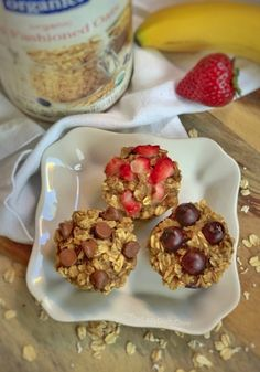 Healthy Banana Oat Muffins Ingredients) - The Lazy Dish Good Healthy Recipes, Healthy Snacks For Kids, Healthy Treats, Baby Food Recipes, Snack Recipes, Cooking Recipes, Smoothie Recipes, Healthy Food, Healthy Eating