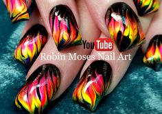 Robin Moses Nail Art: Neon Water Marble Nails without the water! Robin Moses Nail Art: Neon Water Marble Nails without the water! Marble Nail Polish, Shellac Nail Art, Marble Nail Art, Painted Nail Art, Diy Nails, Gel Polish, Nail Marbling, Water Marbling, Hand Painted