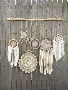 Items similar to SALE - Daydreamer' Boho Chic Driftwood + Doily Dreamcatcher Wall Hanging on Etsy Dreamcatchers, Diy And Crafts, Arts And Crafts, Deco Boheme, Home And Deco, Doilies, Boho Decor, Wind Chimes, Boho Chic