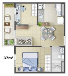 This would be a nice hotel or apartment suite for my Minecraft city I'm building Small Apartment Plans, Studio Apartment Floor Plans, Studio Apartment Layout, Apartment Office, One Bedroom Apartment, Apartment Interior, Apartment Design, Small Apartments, Home Decor Bedroom