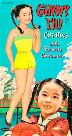 GINNY TIU 1962 from from Whitman The Ginny Tiu paper dolls are from Whitman from 1962. Ginny Tiu was a child actress and singer. She was incredibly gifted musically. She is known for being in an Elvis Presley movie called Girls, Girls, Girls and as a child was on many variety shows such as Ed Sullivan and a commercial for Kellogg's Corn Flakes. She was one of three very talented sisters. 1 of 10