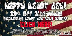 Just got the info on the Madvapes Labor Day sale. Basically, everything on the website is marked down by 10% automatically. Just add the item to your cart and the discount will be applied automatically. Also, use the coupon code... http://gotsmok.com