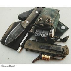 Digging the canvas pouch for the Leatherman in this EDC