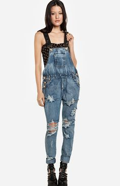 One Teaspoon Cobain Awesome Overalls; cute, but I'd like one with less holes