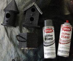 Glitter spray paint!!!
