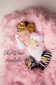 BRAND SPARKLING NEW Newborn Girl Coming Home Outfit by SkylarnMe