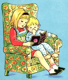 Illustration from Twinkle Comic Reading Art, I Love Reading, Kids Reading, Reading Time, I Love Books, Good Books, Books To Read, My Books, Vintage Children's Books