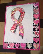 Breast Cancer Awareness Pink Quilted Wall Hanging Pink Ribbon Hearts- it already sold on eBay but I can custom make them for you! Just contact me!!