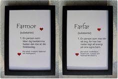 Posters SET Väggord Tavla FARMOR + FARFAR!, Lantlig charm