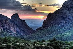 The view from the restaurant at the Chisos Mountain Lodge in Big Bend National Park.