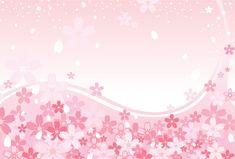 Fondo de flores de cerezo rosa primavera, gráfico de vector - 365PSD.com