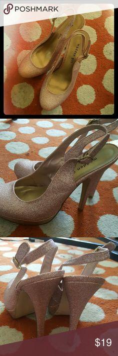 Madden Girl pink sparkle stilettos, Size 10 Never worn (but doesn't have tags) pink sparkle stilettos by Steve Madden Madden Girl Shoes Platforms
