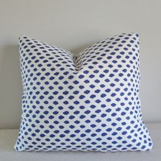 Blue Dotted Pillow Cover Decorative Throw by IndigoBlissBoutique