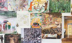 Coral and Tusk inspiration wall, Brooklyn NY