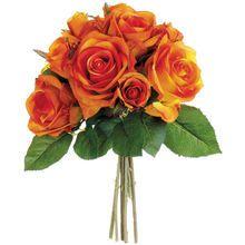 """9.5"""" Rose Bundle, Orange"""