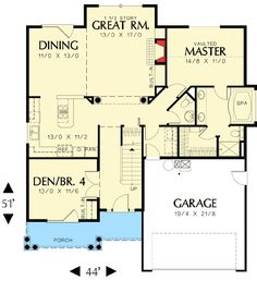 Compact Craftsman Style - 6858AM | Country, Craftsman, Northwest, Narrow Lot, Photo Gallery, 1st Floor Master Suite, CAD Available, Den-Office-Library-Study, PDF | Architectural Designs