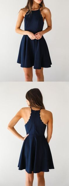 A Line Dark Navy Homecoming Dress,Cute Halter Party Dress,short homecoming dresses · Show By Style · Online Store Powered by Storenvy Navy Blue Homecoming Dress, Sexy Homecoming Dresses, Prom Dresses Blue, Banquet Dresses, Halter Dresses, Short Blue Dresses, Halter Dress Short, Homecoming Ideas, Bridesmaid Dresses