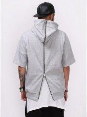 XQUARE BJ Full Back Zipped Short Sleeve Hoodie